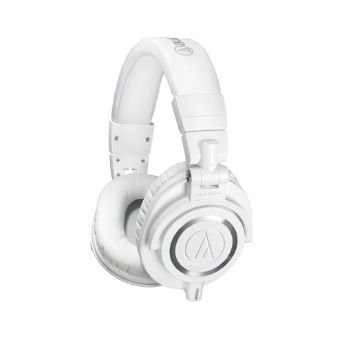Audio-Technica ATH-M50xWH Professional Studio Monitor Headphones, White