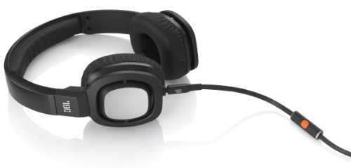JBL J55i High-Performance On-Ear Headphones with JBL Drivers, Rotatable Ear-Cups and Microphone – Black