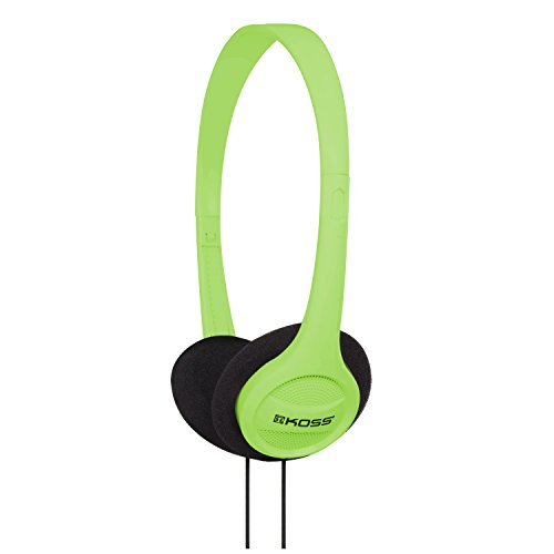 Koss KPH7G Portable On-Ear Headphone with Adjustable Headband – Green